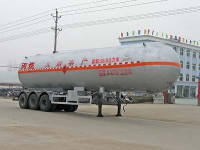 三桥13米丙烷液化气体运输半挂车