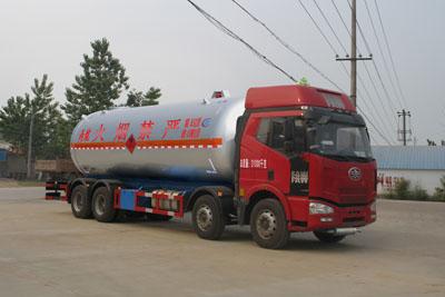 解放J6前四后八丙烷液化气体运输车
