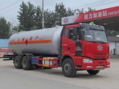 解放J6后双桥丙烷液化气体运输车