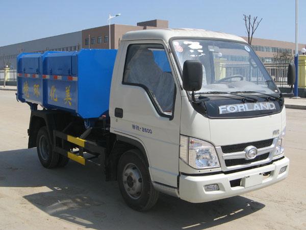 福田4方车厢可卸式垃圾车