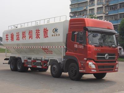 东风天龙前四后八散装饲料运输车