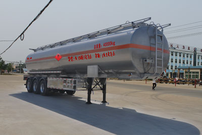 12.1米三桥铝合金运油半挂车(单轮)