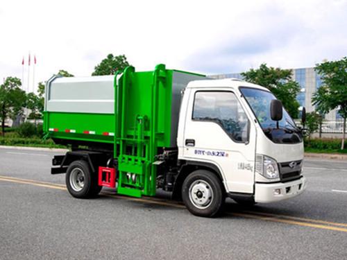 福田3-4方挂桶垃圾车-柴油车